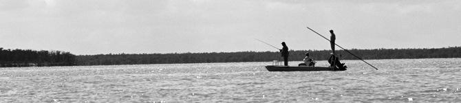 flats skiff in the Everglades tarpon fishing