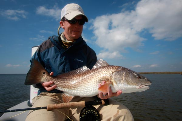 redfish on Spotted Tail fishing trip