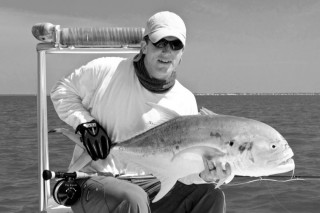 Capt Andy Parker with a fly rod caught jack crevalle