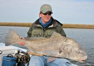 Capt Andy Parker with a Louisiana black drum