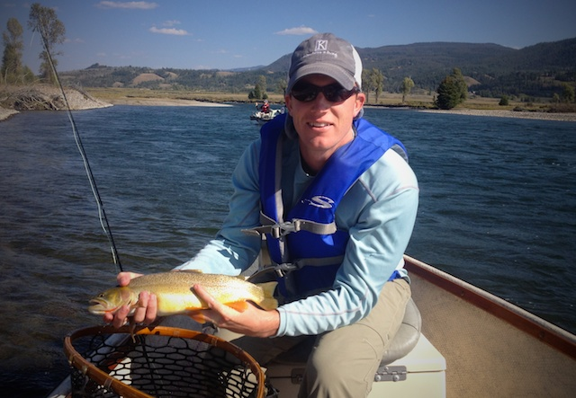 another Snake River cutthroat caught on a fly fishing guide trip