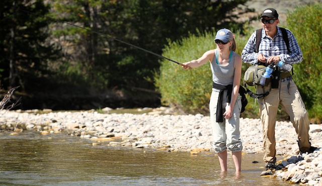 fly fishing with Tenkara