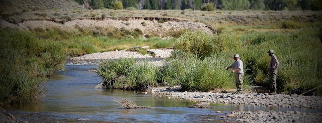 guided fly fishing in the back country of the Grant Tetons
