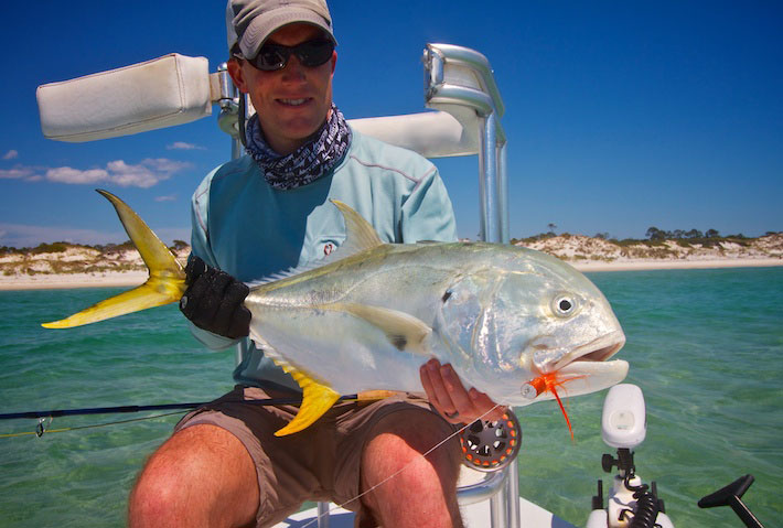 Jack Crevalle caught on guided fishing trip with Spotted Tail Outdoors