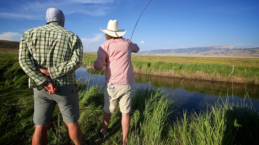 guided fly fishing with Spotted Tail Outdoors reservations management system