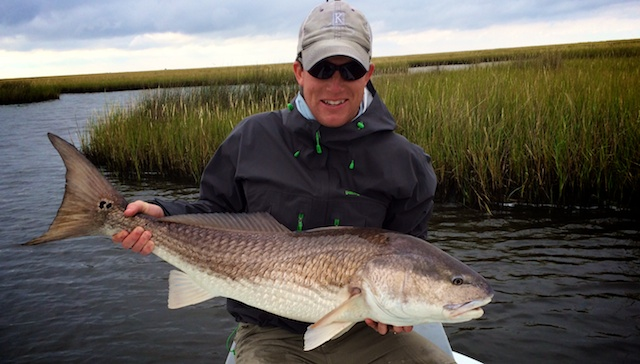 fishing guide trip for redfish with Spotted Tail Outdoors